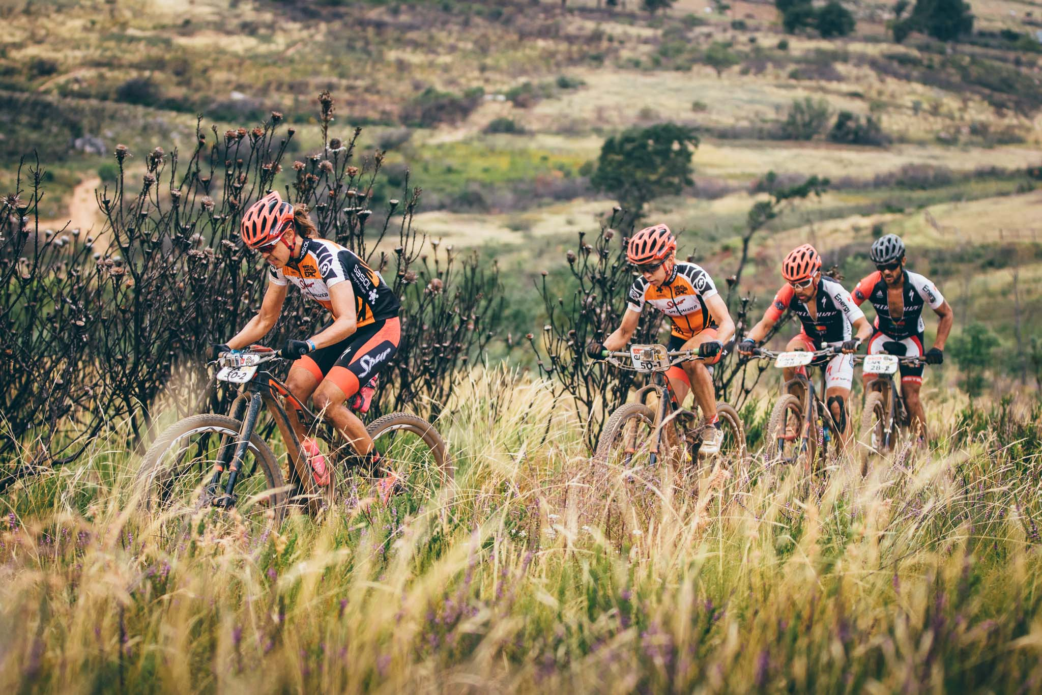 Team Spur Specialized's Annika Langvad and Ariane Kleinhans during stage 4 of the 2016 Absa Cape Epic Mountain Bike stage race from the Cape Peninsula University of Technology in Wellington, South Africa on the 17th March 2016 Photo by Ewald Sadie/Cape Epic/SPORTZPICS PLEASE ENSURE THE APPROPRIATE CREDIT IS GIVEN TO THE PHOTOGRAPHER AND SPORTZPICS ALONG WITH THE ABSA CAPE EPIC ace2016