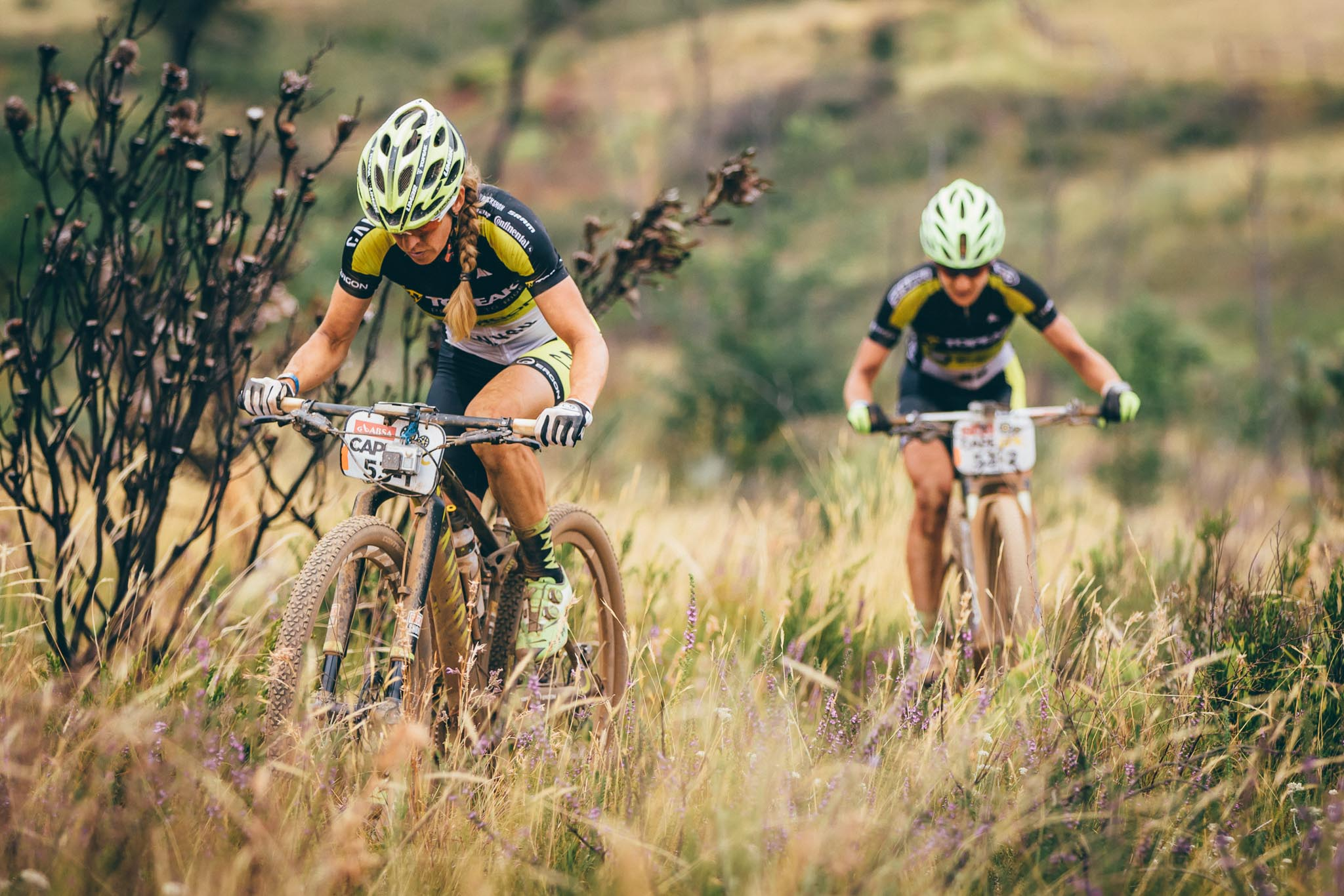 Team Topeak Ergon's Sally Bigham and Adel Morath during stage 4 of the 2016 Absa Cape Epic Mountain Bike stage race from the Cape Peninsula University of Technology in Wellington, South Africa on the 17th March 2016 Photo by Ewald Sadie/Cape Epic/SPORTZPICS PLEASE ENSURE THE APPROPRIATE CREDIT IS GIVEN TO THE PHOTOGRAPHER AND SPORTZPICS ALONG WITH THE ABSA CAPE EPIC {ace2016}