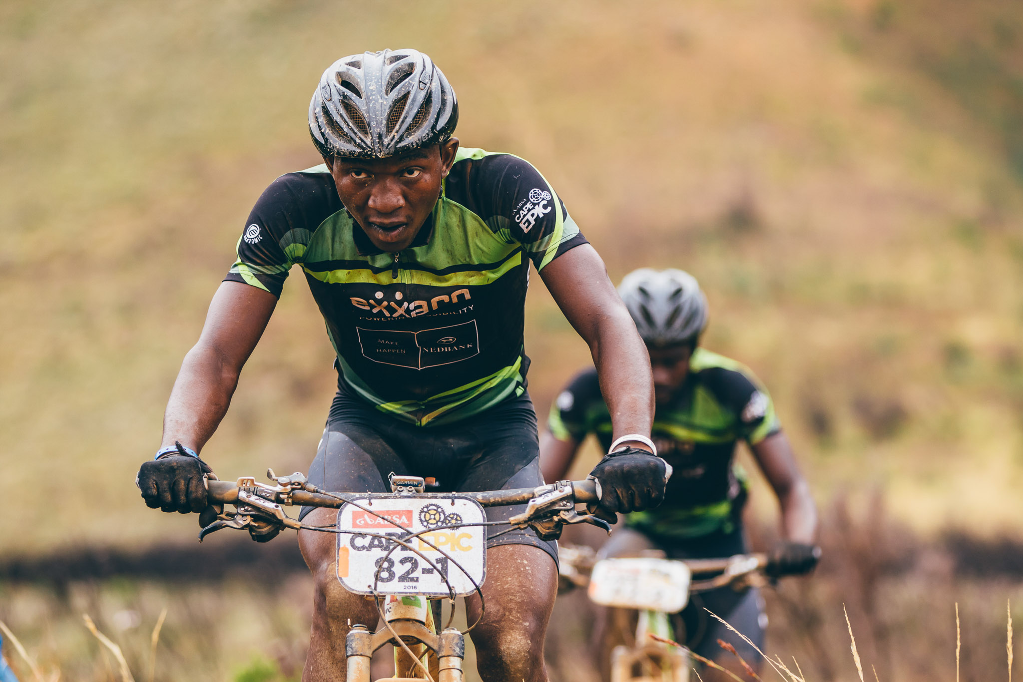 Team Exxaro/Tronox's Rilamulele Gadabeni and Tovhowani Mavundadavhi during stage 4 of the 2016 Absa Cape Epic Mountain Bike stage race from the Cape Peninsula University of Technology in Wellington, South Africa on the 17th March 2016 Photo by Ewald Sadie/Cape Epic/SPORTZPICS PLEASE ENSURE THE APPROPRIATE CREDIT IS GIVEN TO THE PHOTOGRAPHER AND SPORTZPICS ALONG WITH THE ABSA CAPE EPIC {ace2016}