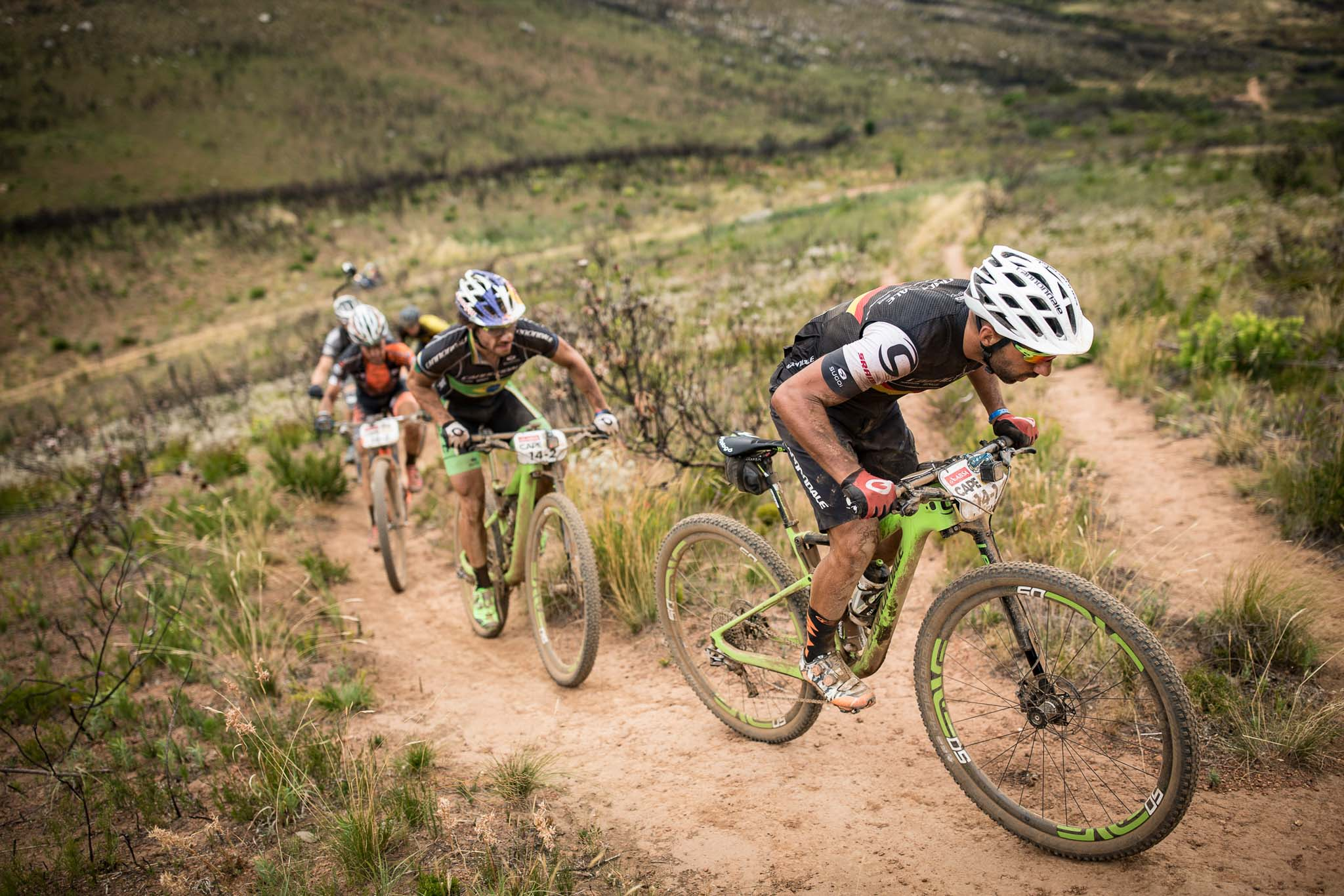 Manuel Fumic and Henrique Avancini of Team Cannondale Factory Racing during stage 4 of the 2016 Absa Cape Epic Mountain Bike stage race from the Cape Peninsula University of Technology in Wellington, South Africa on the 17th March 2016 Photo by Nick Muzik/Cape Epic/SPORTZPICS PLEASE ENSURE THE APPROPRIATE CREDIT IS GIVEN TO THE PHOTOGRAPHER AND SPORTZPICS ALONG WITH THE ABSA CAPE EPIC ace2016