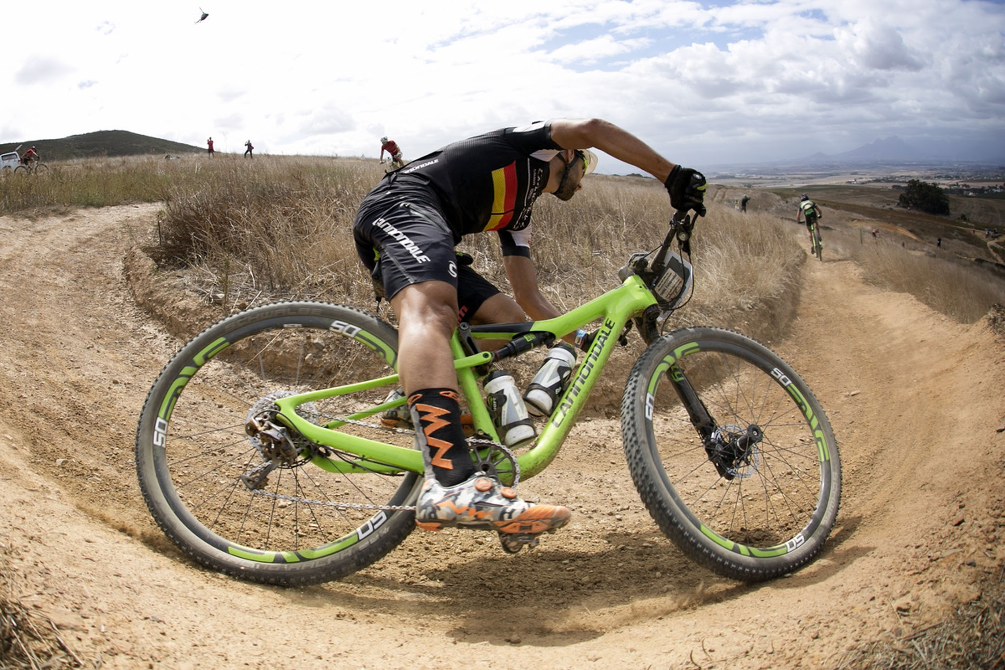 Manuel Fumic of Team Cannondale Factory Racing during the final stage (stage 7) of the 2016 Absa Cape Epic Mountain Bike stage race from Boschendal in Stellenbosch to Meerendal Wine Estate in Durbanville, South Africa on the 20th March 2016 Photo by Mark Sampson/Cape Epic/SPORTZPICS PLEASE ENSURE THE APPROPRIATE CREDIT IS GIVEN TO THE PHOTOGRAPHER AND SPORTZPICS ALONG WITH THE ABSA CAPE EPIC ace2016