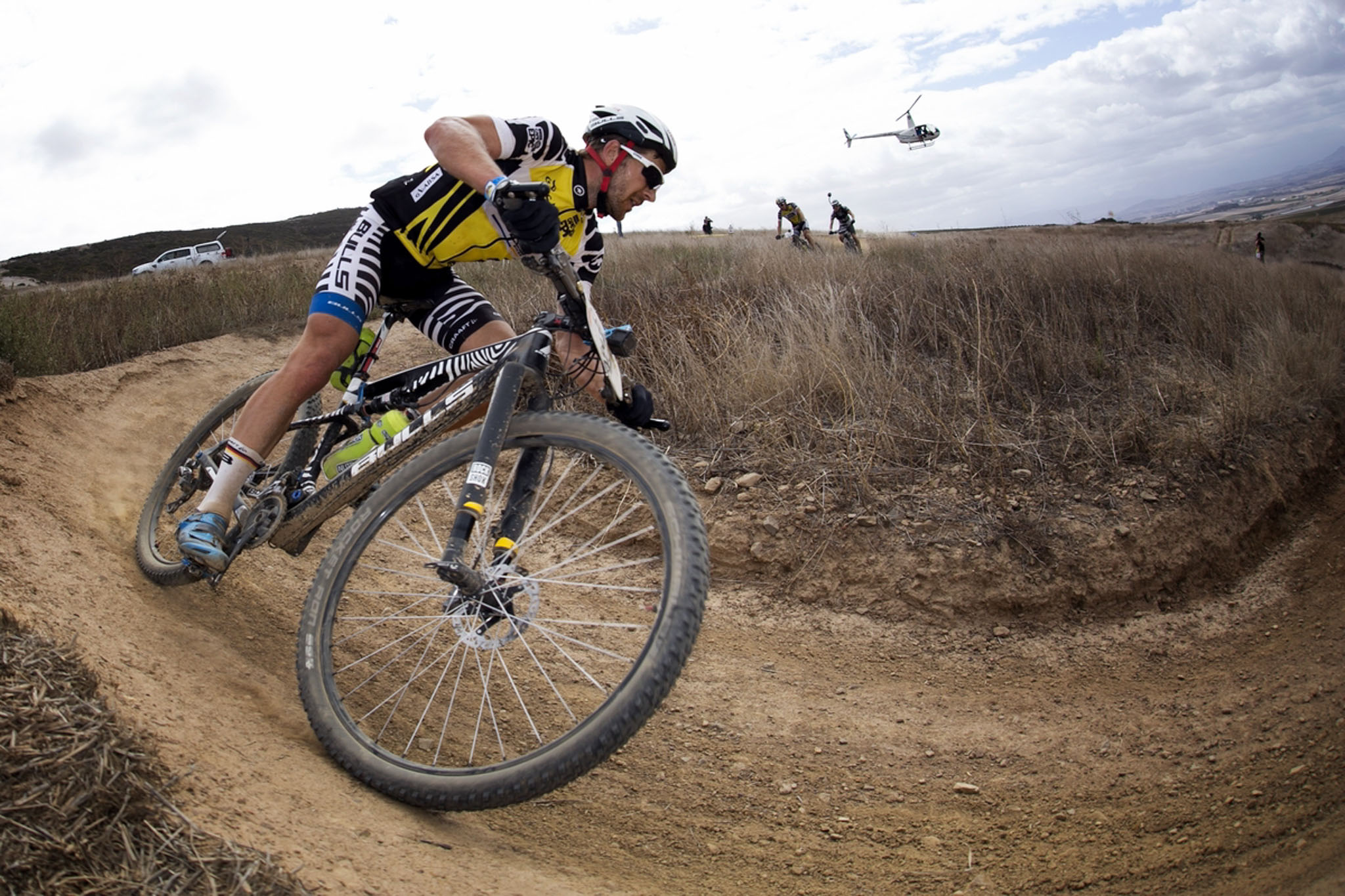 Karl Platt of Bulls during the final stage (stage 7) of the 2016 Absa Cape Epic Mountain Bike stage race from Boschendal in Stellenbosch to Meerendal Wine Estate in Durbanville, South Africa on the 20th March 2016 Photo by Mark Sampson/Cape Epic/SPORTZPICS PLEASE ENSURE THE APPROPRIATE CREDIT IS GIVEN TO THE PHOTOGRAPHER AND SPORTZPICS ALONG WITH THE ABSA CAPE EPIC ace2016