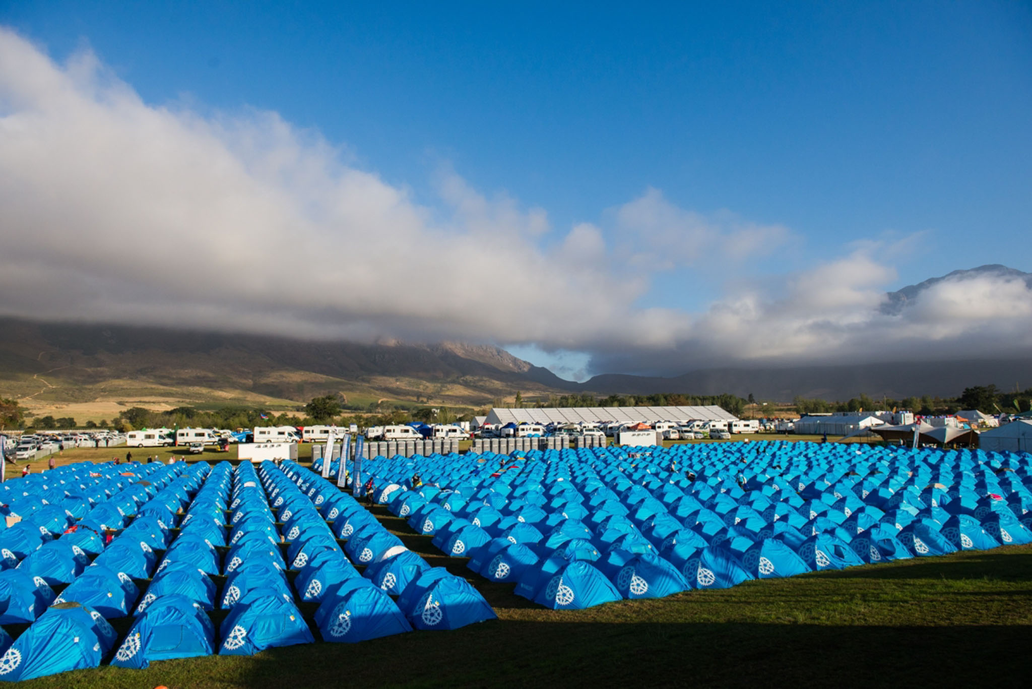 A sea of rider tents, during stage 2 of the 2016 Absa Cape Epic Mountain Bike stage race from Saronsberg Wine Estate in Tulbagh, South Africa on the 15th March 2016 Photo by Emma Hill/Cape Epic/SPORTZPICS PLEASE ENSURE THE APPROPRIATE CREDIT IS GIVEN TO THE PHOTOGRAPHER AND SPORTZPICS ALONG WITH THE ABSA CAPE EPIC ace2016