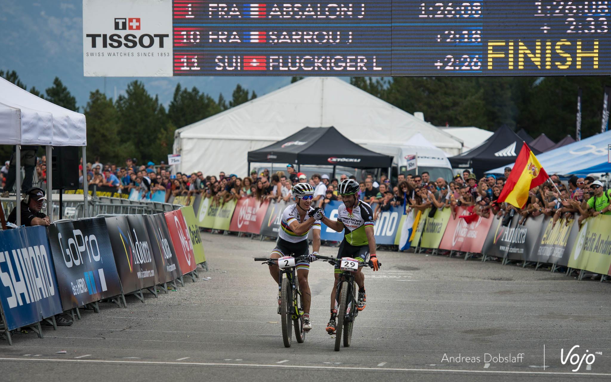2, Schurter, Nino, Scott-Odlo, , SUI 29, Hermida Ramos, José Antonio, Multivan Merida Biking Team, , ESP