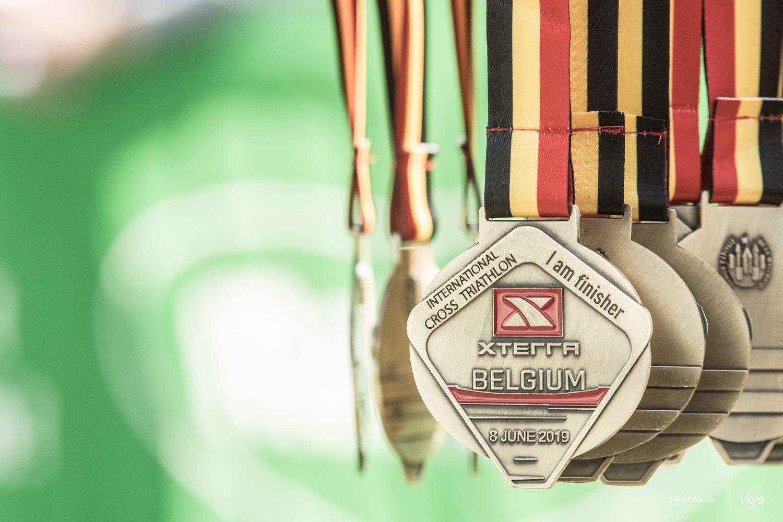 Les médailles de finisher du XTERRA Belgium