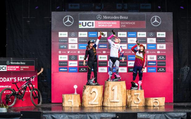 WC DH | Hannah, Cabirou & Widmann : interview croisée du top 3 féminin